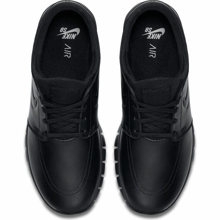 outlet store 3637c dcd1b Nike SB Stefan Janoski Max Leather Black Metallic Pewter Black