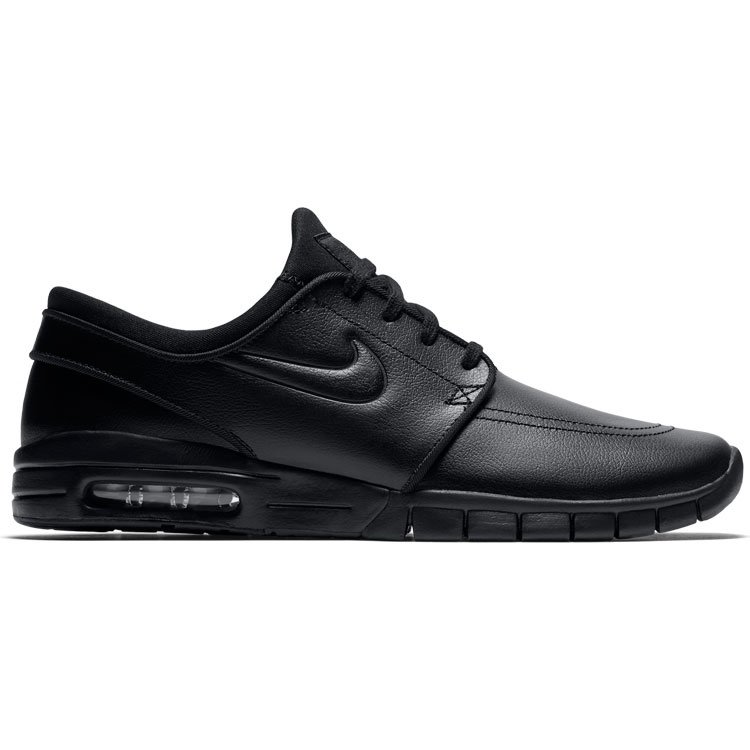 44034d2fd70d Nike SB Stefan Janoski Max Leather Black Metallic Pewter Black