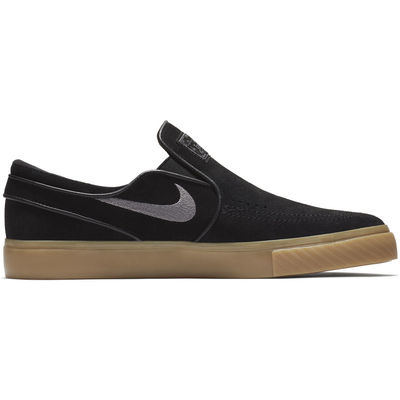 Nike SB Stefan Janoski Slip Black/Gunsmoke-Gum Light Brown