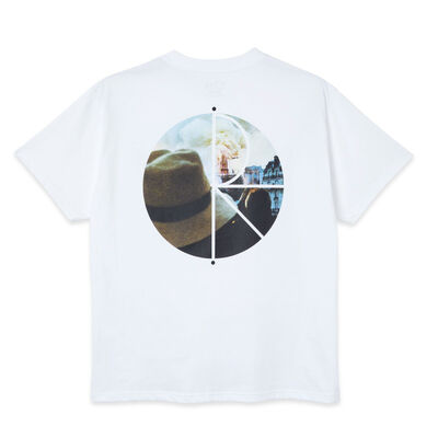 Polar Skate Co. Notre Dame Fill Logo Tee White