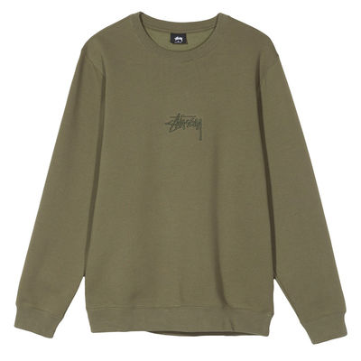Stüssy Stock Applique Crew Olive