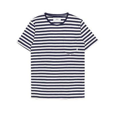 Makia Verkstad T-Shirt Navy/White