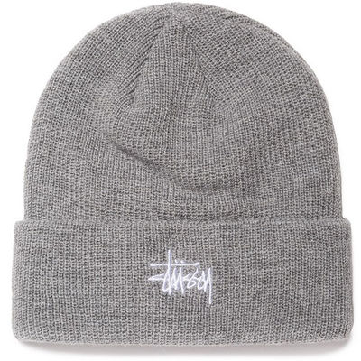 Stüssy Basic Cuff Beanie Grey Heather
