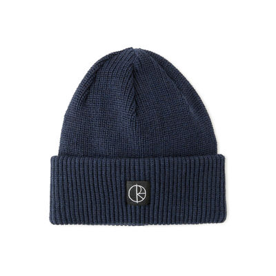 Polar Skate Co. Double Fold Merino Beanie Navy / Black
