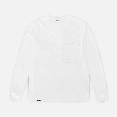 Wawwa Pocket LS T-Shirt White