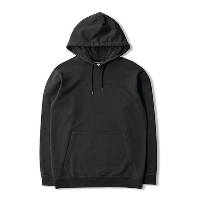 Edwin Katakana Hoodie Sweat Heavy Felpa Ebony Garment Dyed Faded Out