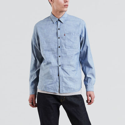 Levi's Skateboarding Skate Riveter Shirt Rigid Slub Chambray