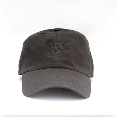 9cbb8f6804d Happy Hour Pigment Dyed OG Logo Cap Black Black