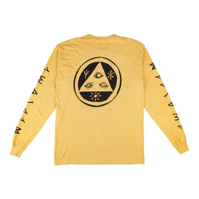 Welcome Tali-Scrawl Garment-Dyed Long Sleeve Tee Mustard/Black