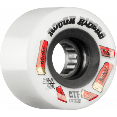Bones Wheels ATF Rough Riders Shotgun 80a White 56mm