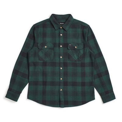 Brixton Bowery L/S Flannel Black/Green