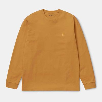 Carhartt WIP L/S Chase T-Shirt Combed Winter Sun/Gold