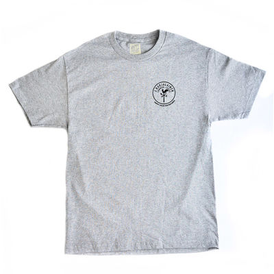 Happy Hour Lännen-Jukka T-Shirt Melange Grey