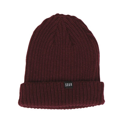 Sour Solution Sweeper Beanie Maroon
