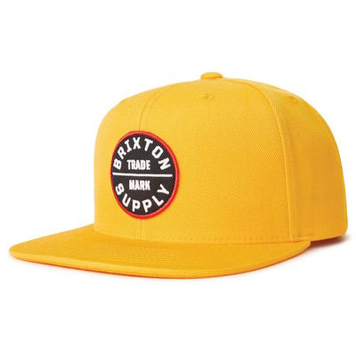 Brixton Oath 3 Snapback Nugget Gold