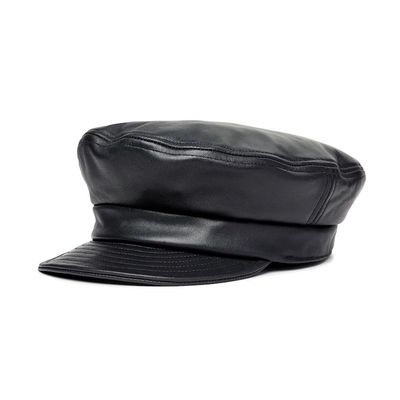 Brixton Fiddler Unstructured Cap Black Leather