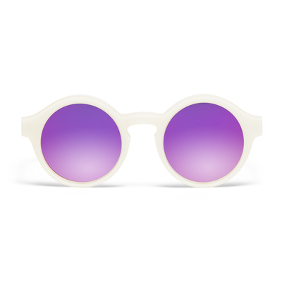Carhartt WIP W' Fox Sunglasses White/ Purple Mirrored Lenses