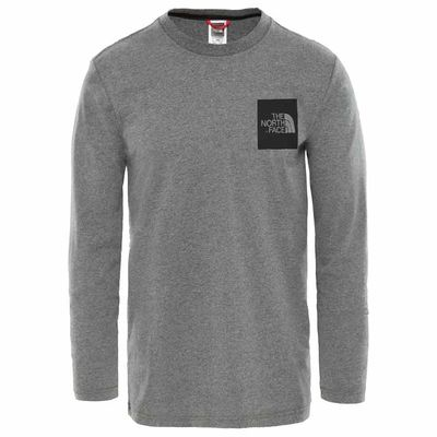 The North Face L/S Fine Tee Medium Grey Heather