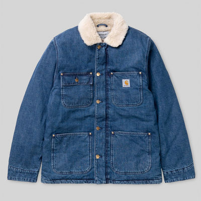Carhartt WIP Fairmount Coat Blue Dark Stone Washed