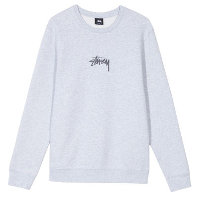 Stüssy Stock Applique Crew Heather Grey