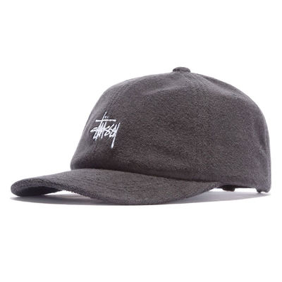 Stüssy Stock Terry Cloth Low Pro Cap Black