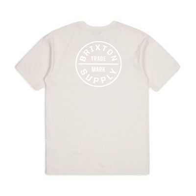 Brixton Oath S/S Standard Tee Off White