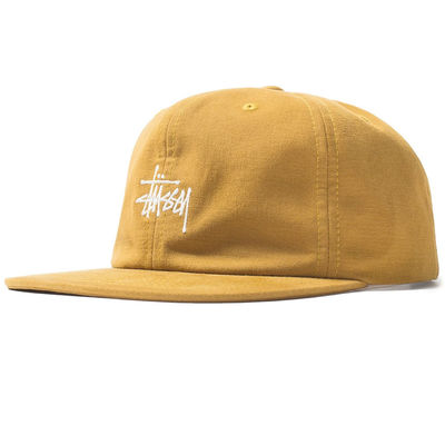 Stüssy Washed Oxford Strapback Cap Mustard