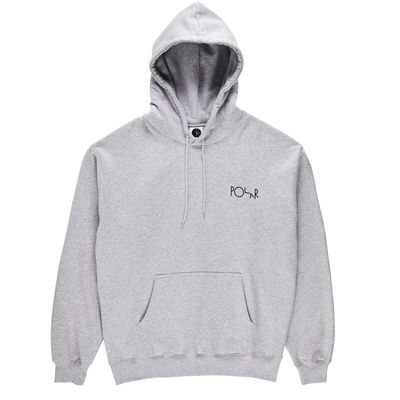 Polar Skate Co. Fill Logo Hoodie Sport Grey