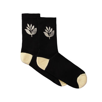Magenta Plant Sox Black/Pale Yellow