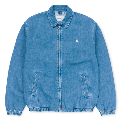Carhartt WIP Madison Jacket Cotton Blue/ White Stone Washed