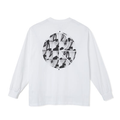 Polar Skate Co. Sequence Fill Logo Longsleeve White
