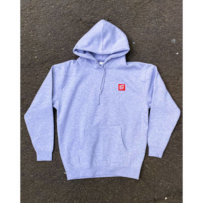 Happy Hour Patch Logo Pullover Hoodie Grey