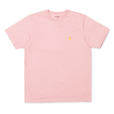 Carhartt WIP S/S Chase T-Shirt Soft Rose/ Gold