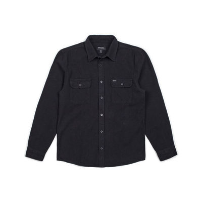 Brixton Bowery L/S Flannel Washed Black