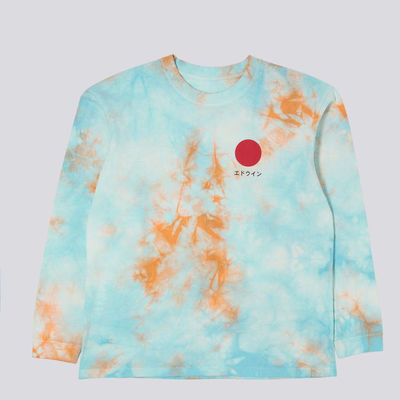 Edwin Japanese Sun 2  LS-shirt Angel Blue / Cantaloupe