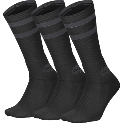 Nike SB Crew Sock Black/Anthracite 3 Pack
