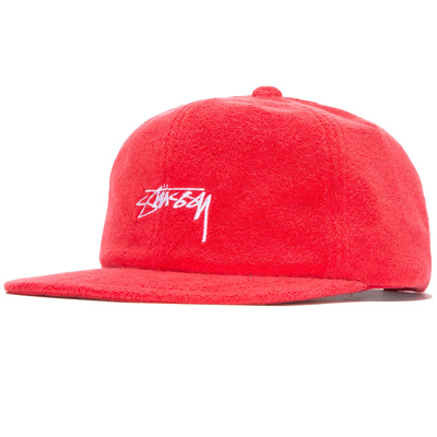 Stüssy Terry Cloth Cap Red
