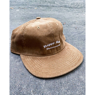 Happy Hour Text Logo Cord Cap Light Brown