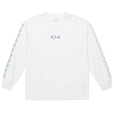 Polar Skate Co. Racing Longsleeve White