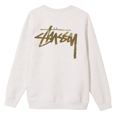 Stüssy Camo Stock Crew Grey Heather