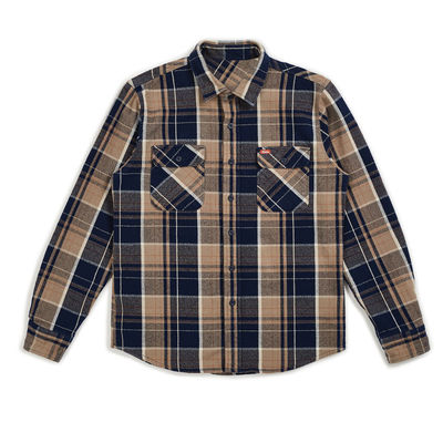 Brixton Bowery Coors II L/S Flannel Navy Plaid