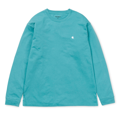 Carhartt WIP L/S Madison T-Shirt Soft Teal/ White