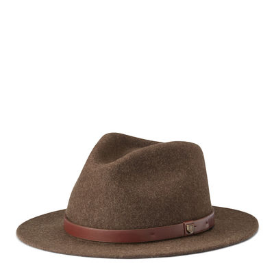 Brixton Messer Fedora Heather Brown