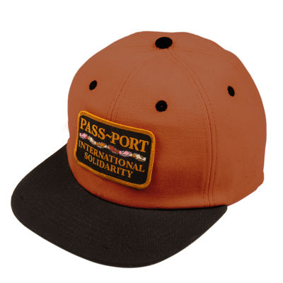 PassPort Inter Solid Patch 6 Panel Cap Brown/Black