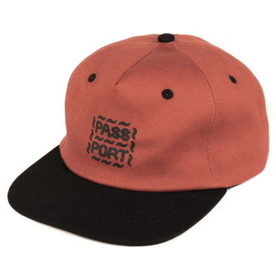PassPort Messy Logo 6 Panel Cap Rust/Black
