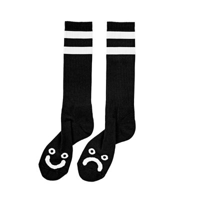 Polar Skate Co. Happy Sad Classic Sock Black