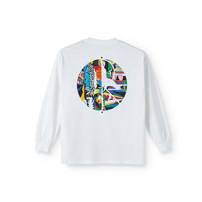 Polar Skate Co. Memory Palace Fill Logo Longsleeve White