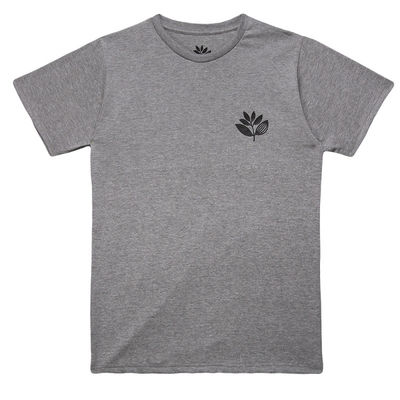 Magenta Plant Tee Heather Grey