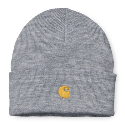 Carhartt WIP Chase Beanie Grey Heather/Gold