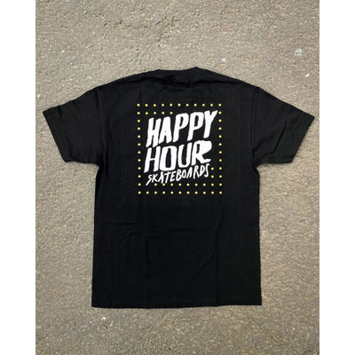 Happy Hour Dots Box Logo T-Shirt Black